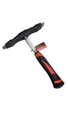 £11.99 • Buy 22oz SCUTCH HAMMER DOUBLE SIDED COMB DROVE SOFT GRIP HANDLE BRICK CHISEL CA109