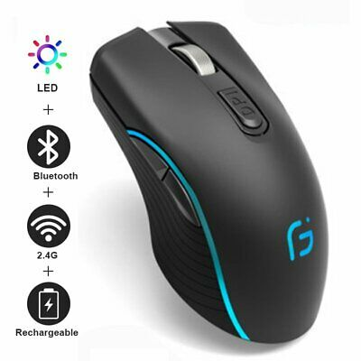 AU25.90 • Buy Wireless Mouse RGB Bluetooth Mouse Gaming Silent Rechargeable Ergonomic USB Mice