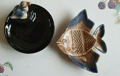 £9 • Buy Collectable Wade Irish Black Porcelain Whimtrays Pin Tray & Duck Whimsy