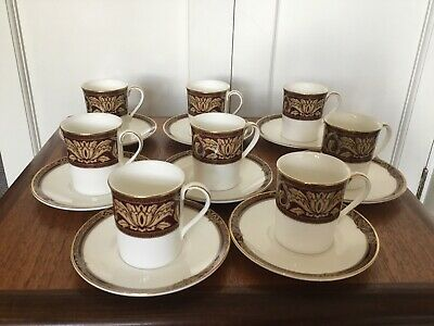 £40 • Buy Royal Doulton Tennyson 8 Coffee Cups & Saucers