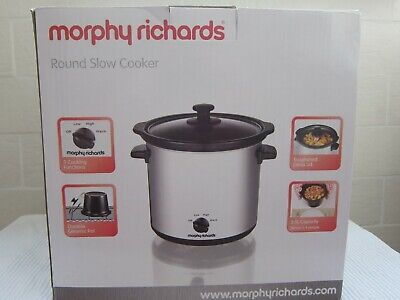 £35 • Buy MORPHY RICHARDS ROUND SLOW COOKER, 3.5 L - Silver - New