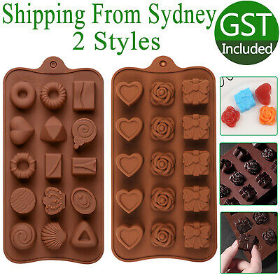 AU5.99 • Buy 2 Styles Silicone Mould Cake Ice Tray Jelly Candy Cookie Chocolate Baking Mold A