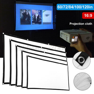 AU7.51 • Buy Fabric Cloth Screen Projector Portable Movie Display Reflective LED  !! #FC