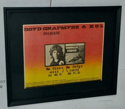 $125 • Buy The Doors 1968 Rare Seattle Center Arena  Promotional Framed Concert Ad