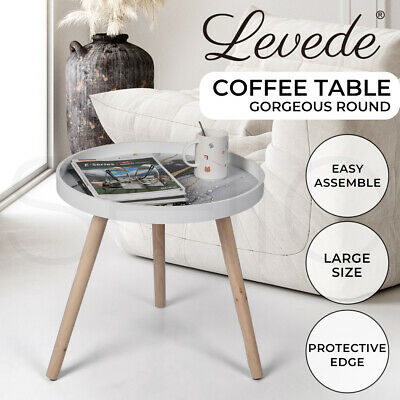AU39.99 • Buy Levede Side End Table Sofa Coffee Table Storage Bedside Table Plant Stand Wooden