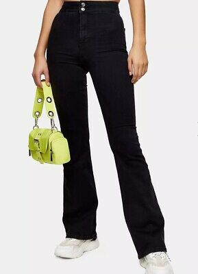 £20 • Buy  Topshop Three Washed Black Skinny Flare Jeans Size 4/6