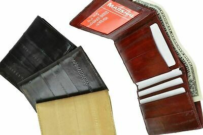 $19.99 • Buy New Genuine EEL SKIN Men's Light Weight WALLET With ID Window Sm/Small Trifold