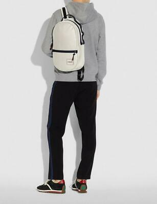 $260 • Buy NWT COACH Mens Pacer Backpack With Patch Chalk Ivory Sling Med Book Bag $398