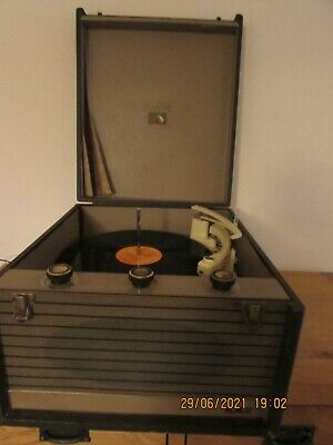 £36 • Buy Vintage HMV Table Top Record Player Model 2008A Serial No.13590 Needs Some Work