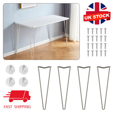 £8.59 • Buy 4 X 8  Metal Steel Hairpin Legs Set For Furniture Bench Desk Coffee Table