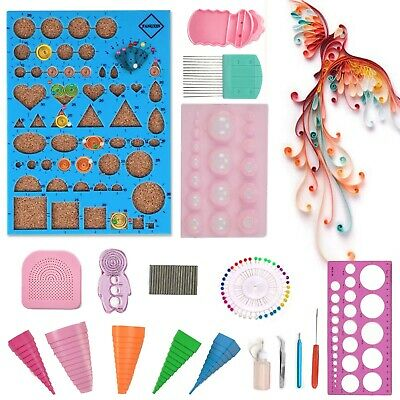 £11.09 • Buy 18pcs Starter Quilling Paper Kits DIY Tool Workboard Slotted Tool Quilling Pen