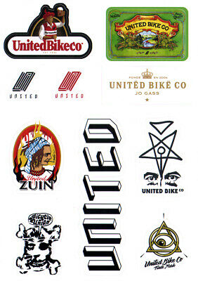 £4.65 • Buy United Bike Co BMX Sticker Sheet - 10 Stickers - 21cm High Approx New & Official