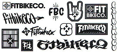 £4.95 • Buy Fit Bike Co BMX Sticker Sheet - 12 Stickers - Size 23cm Cycle New & Official