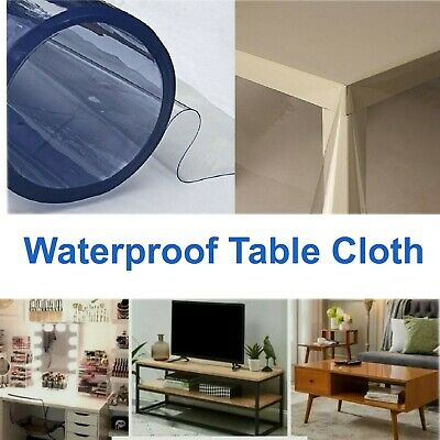 £8.99 • Buy Waterproof Table Cloth Protector Strong Clear Plastic PVC Vinyl Transparent