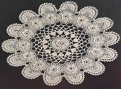 £1.75 • Buy Ch5 - Crochet Pattern - Two Cotton Lace Doily Place / Table Mats - 10  & 13