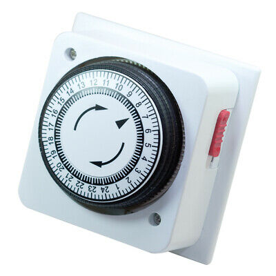 £19.99 • Buy 24 Hour Mechanical Timer Switch – Immersion Heater Timer Time Clock 1Gang Box