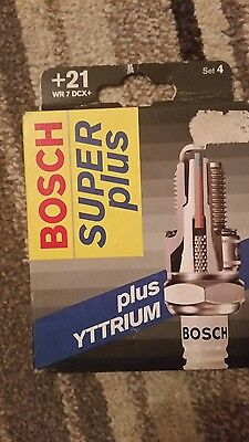 £8.50 • Buy Bosch WR7DCX+ +21 Spark Plugs X 4, Brand New Never Opened, Same As  NGK BPR6ES11