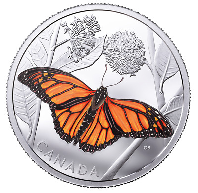 $260.34 • Buy Monarch Migration - 3oz Pure Silver Proof $50 Color Butterfly Coin, CANADA, RCM