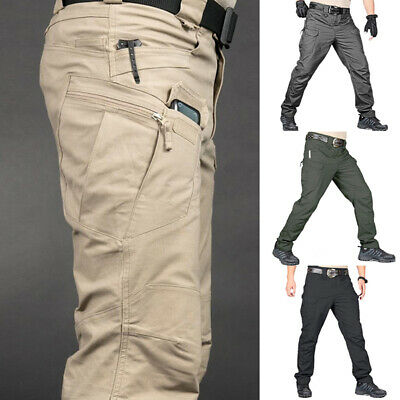 £12.69 • Buy Men Military Tactical Trousers Multi Pockets Outdoor Hiking Fishing Combat Pants