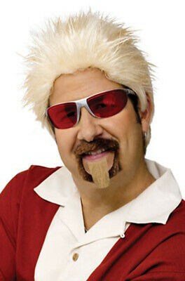 $15.29 • Buy Guy Fieri Celebrity Chef Costume Wig And Goatee Accessory