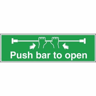£11.35 • Buy Nisbets Push Bar To Open Sign - Self Adhesive Vinyl - Easy To Clean