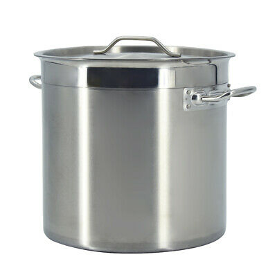 £45 • Buy 12L Deep Stock Pot Soup Cooking Stew Saucepan Casserole Catering Pan With Lid