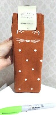 £10.99 • Buy BNWT Ladies FAT FACE Cat Face WELLY SOCKS Knee High Spotty NEW