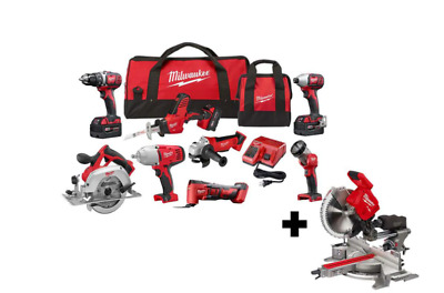 £1024.37 • Buy Milwaukee Tool M18 Cordless Combo Kit (8-Tool) With FUEL 7-1/4 In. MITER SAW