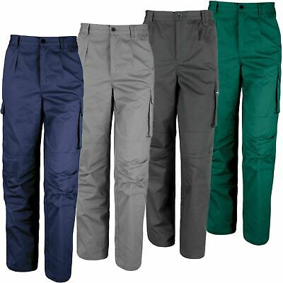 £9.99 • Buy Result Mens Work Trousers Action Workwear Pants Knee Pad Pockets Cargo Combat