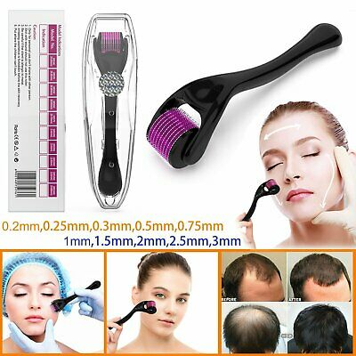 AU13.49 • Buy 540 Needle Titanium Microneedle Derma Roller System Micro Skin Therapy 0.2-3mm