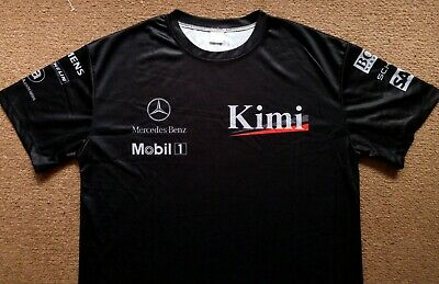 £26.99 • Buy West McLaren Mercedes 2004 F1 Team Pit Crew Kimi Driver Issue Style Shirt Mens