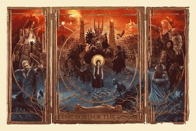 £199.99 • Buy Lord Of The Rings Triptych Alternative Movie Poster By Gabz /2400 BNG Mondo LOTR