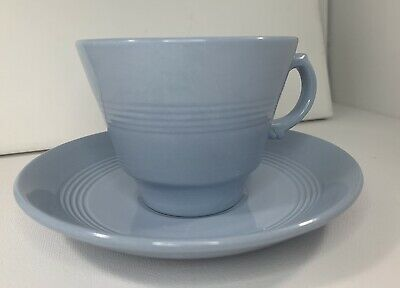 £10 • Buy Woods Wood's Ware Iris Tea Cups And Saucer L Cup Blue (3 Available)