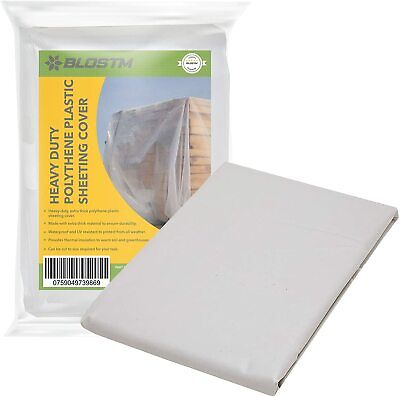 £9.49 • Buy Heavy Duty Clear Polythene Sheeting 2m X 3m DIY Thick Plastic Protection 1000G