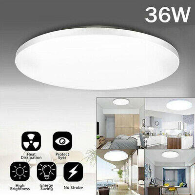 £9.99 • Buy 36W LED Ceiling Light Round Panel Lights Bathroom Kitchen Living Room Wall Lamp