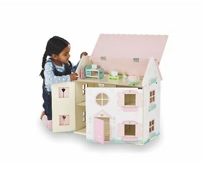 £34.99 • Buy Large Girls Pink Princess Wooden Dolls Play House BRAND NEW BOXED