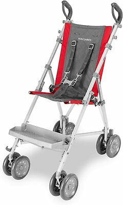 View Details New Maclaren Major Elite Special Needs Pushchair Red / Charcoal Buggy Wheelchair • 239£