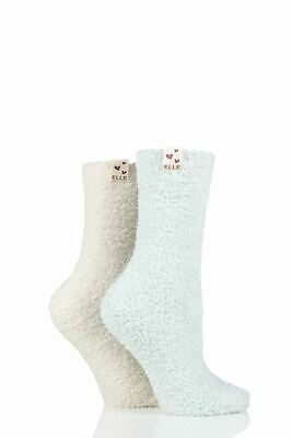 £9.99 • Buy Ladies 2 Pair Elle Two Tone Soft And Cosy Bed Socks