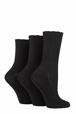 £9.99 • Buy Ladies 3 Pair Elle Ribbed Bamboo Socks With Scallop Top