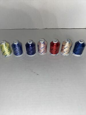 $23.99 • Buy Simthread Embroidery Machine Thread Lot Of 7