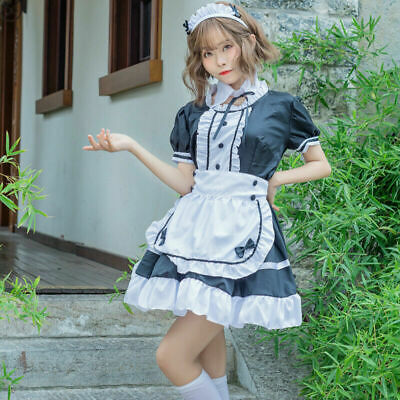 $28.30 • Buy Lady French Maid Fancy Dresses Costume Outfit Waitress Uniform Plus Size Cosplay