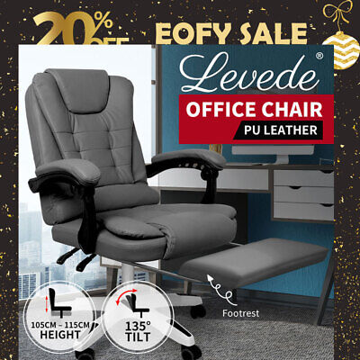 AU219.99 • Buy Levede Office Chair Gaming Computer Seat Racing PU Leather Executive Footrest
