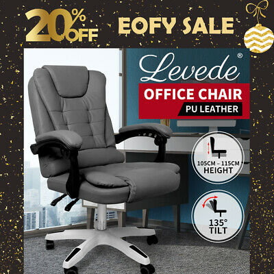 AU139.99 • Buy Levede Gaming Chair Office Computer Seat Racing PU Leather Executive Recliner