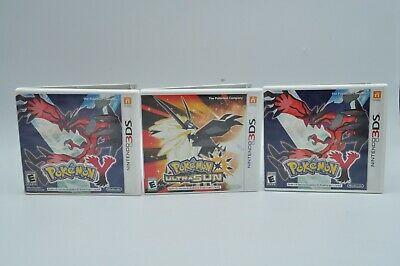 $29.95 • Buy Pokemon Ultra Sun And  Y Lot Of 3 Case And Manual Only No Games Free Shipping