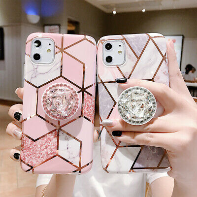 AU8.99 • Buy For Apple IPhone 11 Pro Max SE XS MAX 7 8 Plus Case Marble Holder Silicone Cover