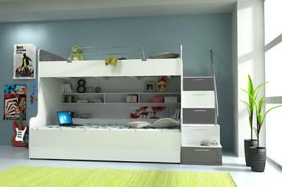 £1051.97 • Buy Bunk Bed Double Bed Youth Bed Beds With Wardrobe Table RAJ4g