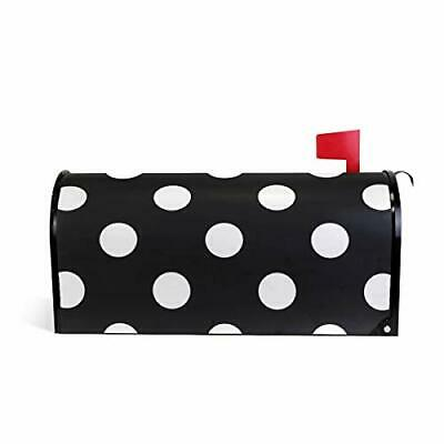 $28.31 • Buy  Home Garden Polka Dot Black Pattern Magnetic Mailbox Cover Stand 20.8  X 18