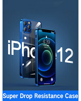 AU6.99 • Buy Clear Shockproof Plating Case Cover For IPhone 12 11 Pro XS MAX X XR 8 7 Plus