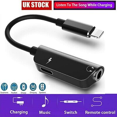 £2.89 • Buy For IPhone 7 8 11 12 Pro Max Dual 2 In 1 Headphone Adapter Cable Charger Adaptor