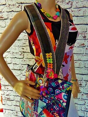 £18 • Buy BNWT UNIQUE .Quirky-Multicoloured Vibrant ARTY Patterned Wipe Over Shoulder Bag